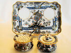 Fine Meissen Porcelain Exotic Bird & Flowers Inkwell Desk Tray  19th century