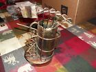 COPPER METAL COLORED MUSIC BOX ~GOLF BAG AND CLUBS ~ WORKS GREAT!