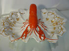 Antique Vintage Pottery Figural LOBSTER Handle Divided BOWL Dish Germany
