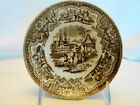 Adams Transferware Brown Transfer Damascus Pattern Saucer 1893-1917 5 3/4