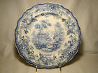 Staffordshire Transferware Royal Cottage Blue Transfer Dinner Plate 10