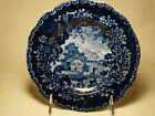 Transferware Adams Historic Dark Blue Transfer Cottage Fisherman Plate 7 1804-29