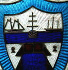 c.1920 Sterling Silver & Enamel Tall Ships Yachting Medal