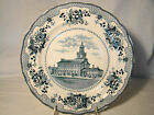 Buffalo Pottery Historical Series Independence Hall Plate 10 1/8