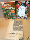 CANNING COOKBOOK LOT Complete Book of Home C Demetria M Taylor~Way to Successful