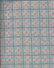1 3/8 yds Blue and Pink Plaid Maywood Studios 100% Cotton quilting fabric