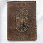 Leather  folder  old  art  VTG  retro  decor  ..  9