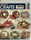 V SEWING PATTERN McCALLS CRAFTS 8648 VINTAGE SEASONAL WREATHS HOLIDAY UNCUT