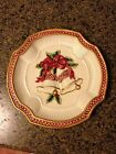 Fitz And Floyd Holiday Bells Canape Plate