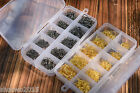 3 12 10 Sizes 600pcs Fish Jig Hooks Carbon Steel with Hole Fishing Tackle Box