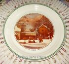 Corelle Corning 1984 THE FARMERS HOME Christmas Series Collectors Plate Mint