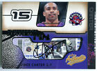 2001-02 Fleer Authentix VINCE CARTER Auto UNRIPPED Extremely Rare SP # 25