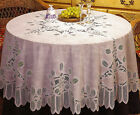 NEW WHITE IVORY CROCHET LACE VINYL TABLECLOTH 60 90 70