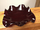 Vintage Art Glass Ruby Blood Red Candy Dish