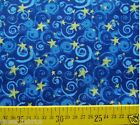 1 yard Cotton Fabric Yellow Stars Blue Sky Good Quality Designer Cloth Sewing