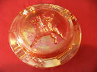 VINTAGE Polo Horse  Rider Carnival Glass Ash Tray 5 1 2
