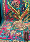 New Cynthia Rowley Spa Towel Paisley Turquoise Pink Green 40x70 Huge Rich Cotton