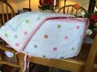 Pottery Barn Kids Sophie Baby Girl Crib Bumper Polka Dot Pink White And Sham