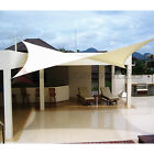 Sun Shade Sail Fabric Outdoor Garden Canopy Patio Pool Awning Cover 12 16 18