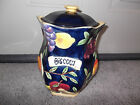 HAND PAINTED FOR NONNI'S CERAMIC BISCOTTI COOKIE JAR CANISTER