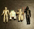 1977/1983 Vintage STAR WARS C-3PO, R2D2, Ewok, And Darth Vader Action Figures
