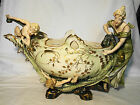 Amphora Art Nouveau Porcelain Figures Centerpiece Bowl 18