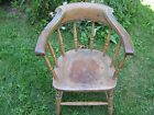 Windsor Back Stenciled Firehouse Chair Mid 1800's