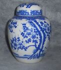 Blue & White Ginger Jar floral cherry blossom Japan porcelain