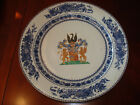 Antique Chinese  Blue and White Armorial Charger 15
