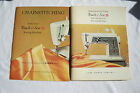 2 Sets Vntg Singer Touch & Sew Deluxe Zig Zag Sewing Machine Manuals Chainstitch