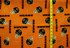 NFL CHICAGO BEARS ORANGE PRINT NEW 100% COTTON FABRIC BY THE 1/4 YARD