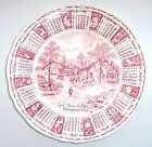 Vintage 1974 Zodiac Calendar Plate, Alfred Meakin, Staffordshire, England