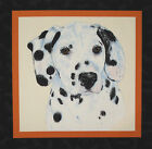 Dalmatian Dog Man's Best Friend panel fabric square quilting quilt block sewing
