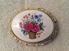 Vintage Music Box Lid~Sankyo~Japan~Floral~Flower Basket Design~Lid Only~Works