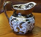 Vtg WEDGWOOD Silver Luster Pitcher Etruria & Barlaston Signed # C5229