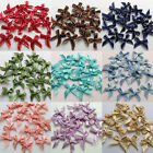 New Colors 20 Mini MultiPurpose Satin Bows Pre tied Ribbon Gold Metallic Trim