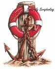 Anchor Beach Scene Stamp Cling Unmounted Rubber Stamp CC Designs JD1001 New