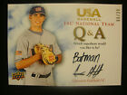 CAMERON GARIELD 2008 UD USA BASEBALL Q&A AUTOGRAPHED ROOKIE # 20 BREWERS