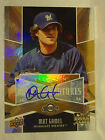 MAT GAMEL 2009 UD SPECTRUM AUTO AUTOGRAPHED ROOKIE CARD MILWAUKEE BREWERS