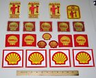 (12) Vintage Shell Gas Oil Company Uniform Iron-On Embroidered Patches Stickers
