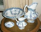 RARE ANTIQUE 1880 WOOD & SON COMPLETE SET ENGLAND TWO PITCHER BASIN & SOAP DISH