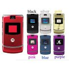 Original Unlocked Motorola RAZR V3 Flip Mobile Phone Cellphone Camera Bluetooth
