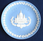 Wedgwood Blue and White Jasper Christmas Plate 1972 St. Paul's Cathedral MIB