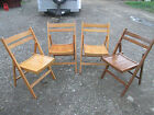 Vintage Furniture NICE 4 Wood Wooden Folding Chairs Romania