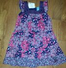 PUMPKIN PATCH NAVY  PINK PATCHWORK CRINKLE DRESS LINED NWT 4