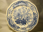 Spode Transferware Gadroon Edge Jasmine Blue Transfer Plate 8 1/4 c.1825-1833