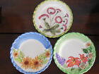 Royal Norfolk Set of 3 Hand Painted Plates - Floral Design