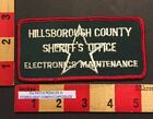 White Star Patch Hillsborough County  Tampa FL Sheriff Dept. Elect. Maint. 551