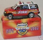 MATCHBOX 2002 NEW YORK CITY TOY SHOW 50th ANNIVERSARY FIRE EXPEDITION *NEW BOXD*