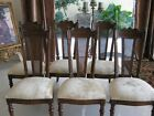 6 Six Vintage or Antique Carved Wood Dining Chairs French Style